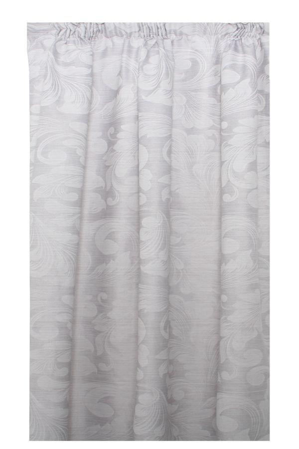 2 PACK DAMASK LINED CURTAIN