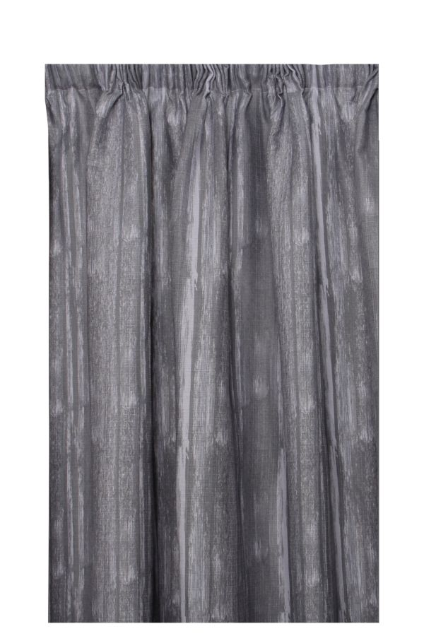 BARKWEAVE TAPED LINED CURTAIN