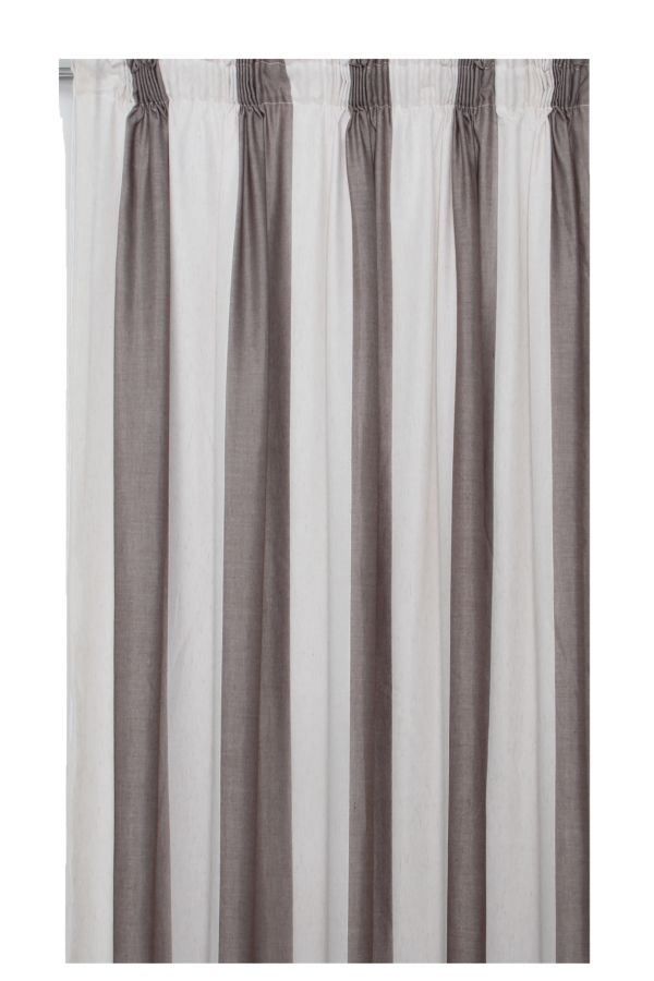 SHEER TAPED LINED CURTAIN