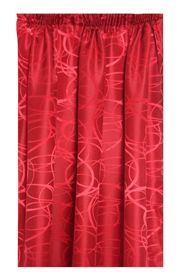 2 PACK JACQUARD TAPED UNLINED CURTAIN