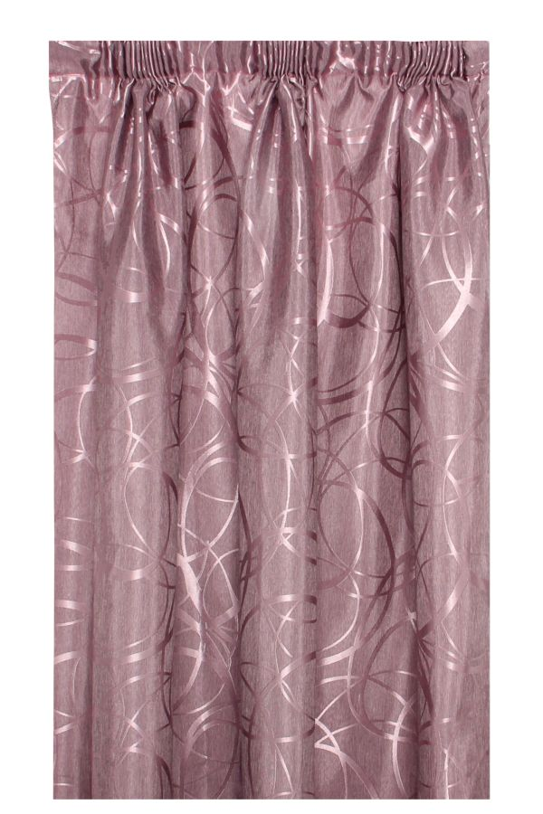2 PACK JACQUARD UNLINED CURTAIN