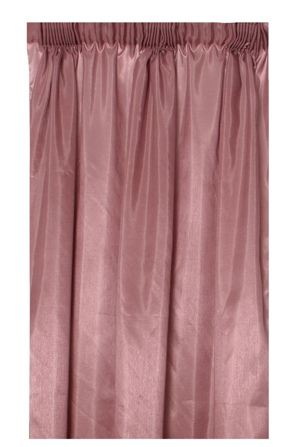 2 PACK FAUX SILK TAPED UNLINED CURTAIN