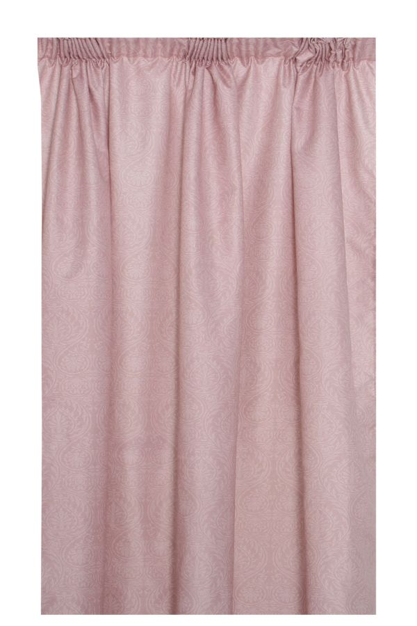 2 PACK DAMASK UNLINED CURTAIN