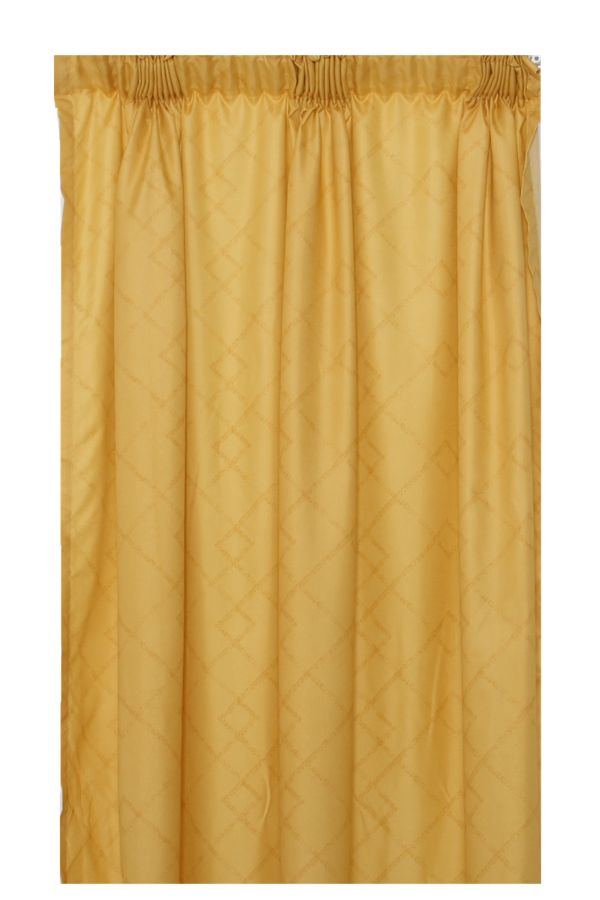 2 PACK TAPED UNLINED CURTAIN 218X140CM