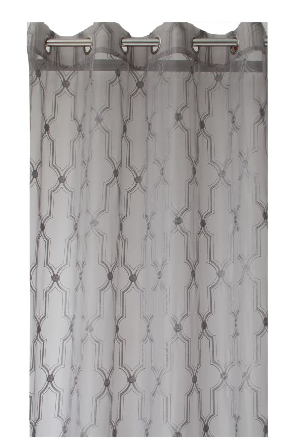 EMBROIDERY SHEER EYELET CURTAIN