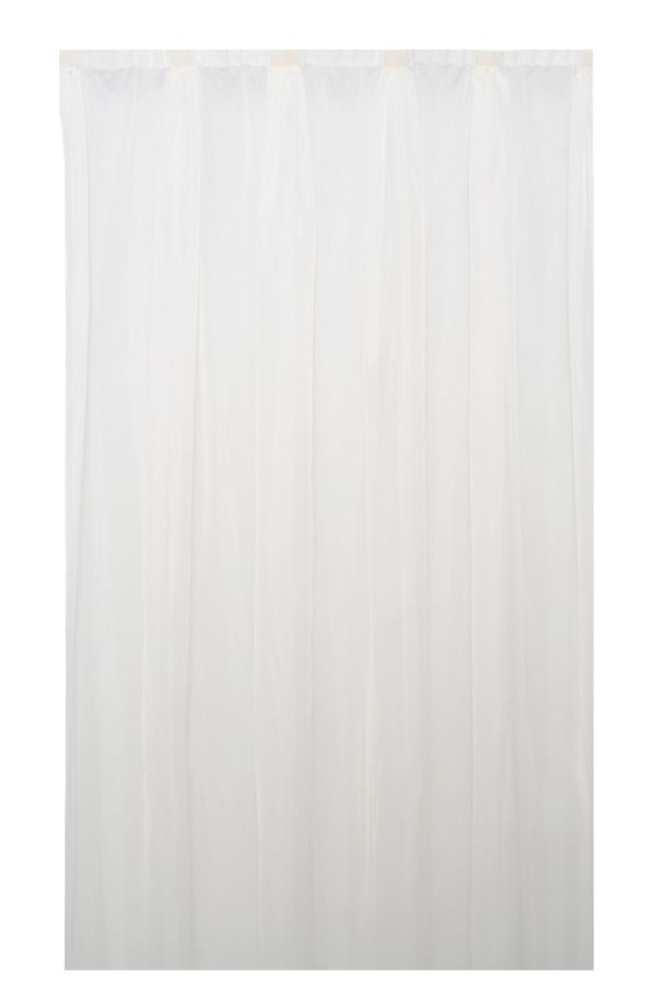 PLAIN VOILE TAPED CURTAIN