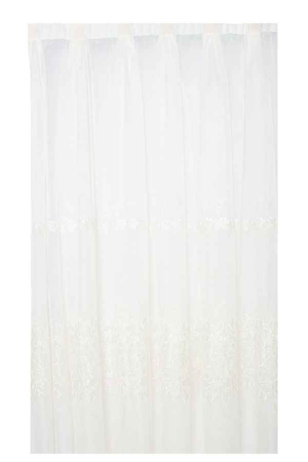 2 PACK SHEER TAPED CURTAIN