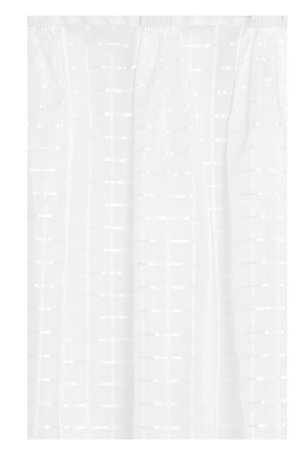 2 PACK SHEER TAPED UNLINED CURTAIN