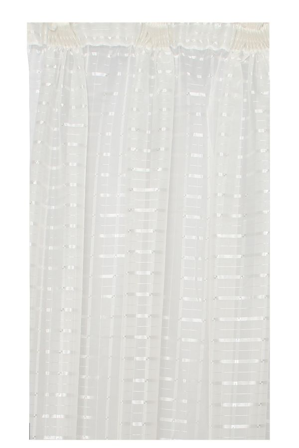 2 PACK TAPED SHEER CURTAIN