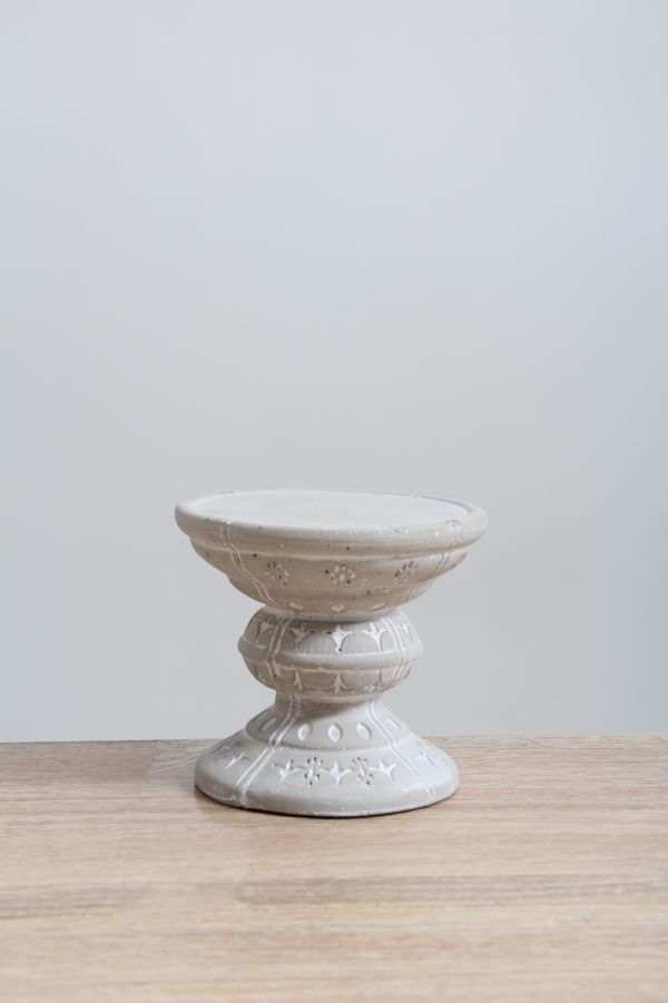 SMALL CEMENT CANDLE HOLDER