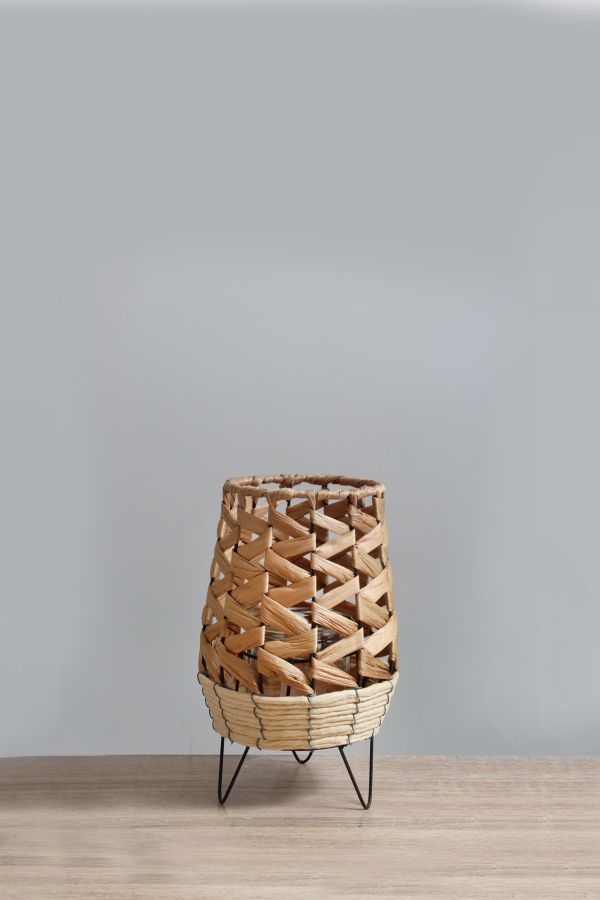 SMALL NATURAL WEAVE CANDLE HOLDER