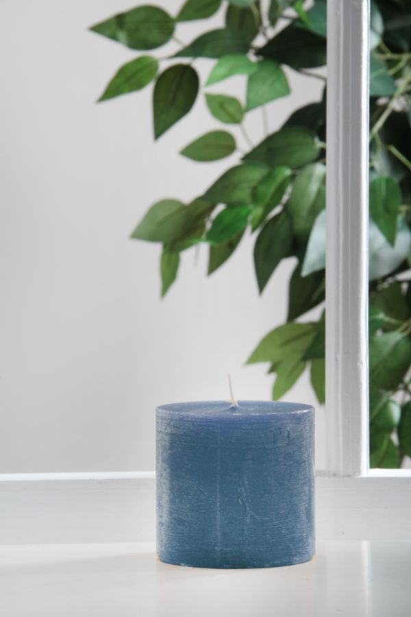 SMALL ORCHID PILLAR CANDLE