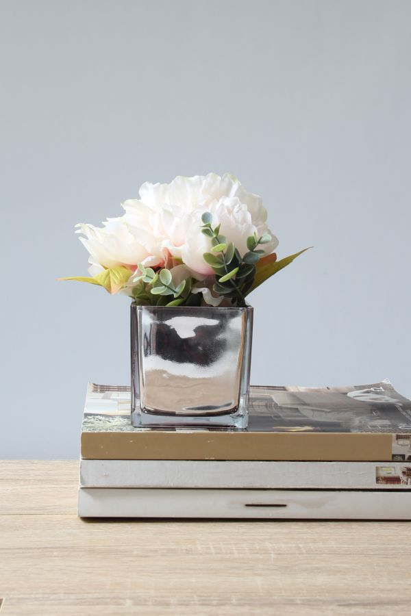 POTTED FAUX PEONY BUNCH