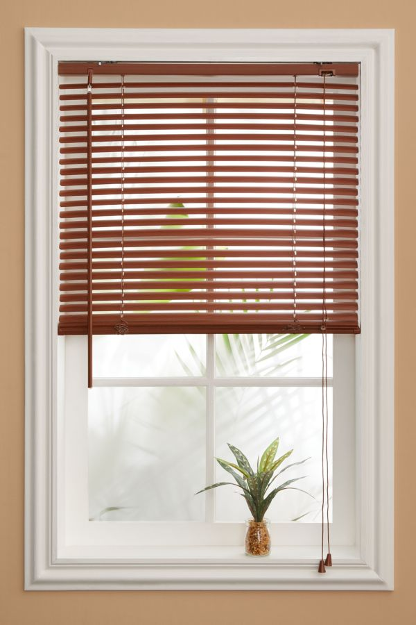 PVC WOODGRAIN VENETIAN BLIND 120X160CM