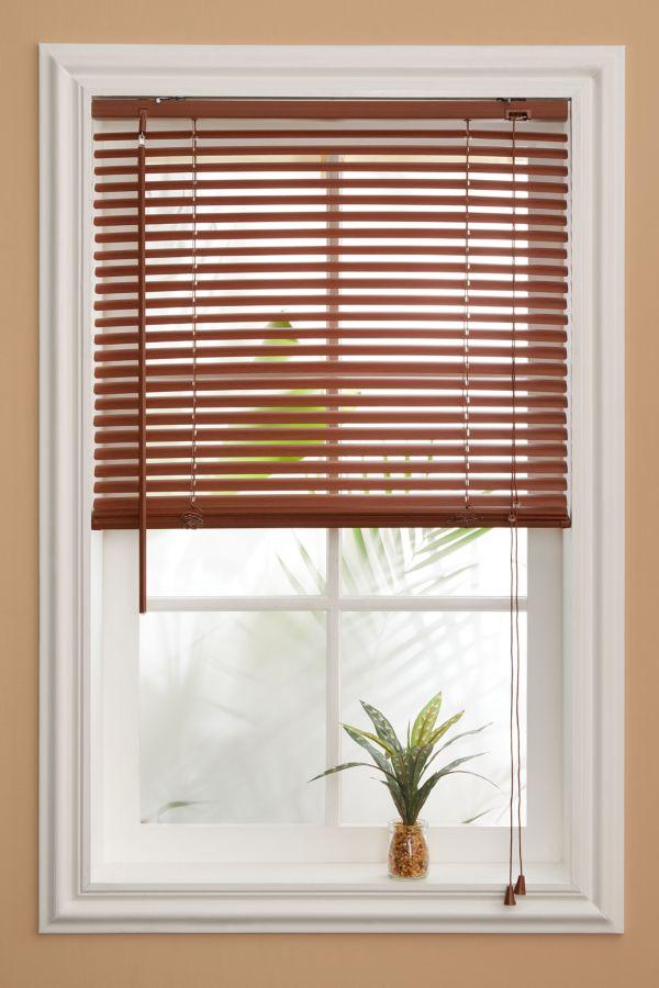 PVC WOODGRAIN VENETIAN BLIND 60X100CM