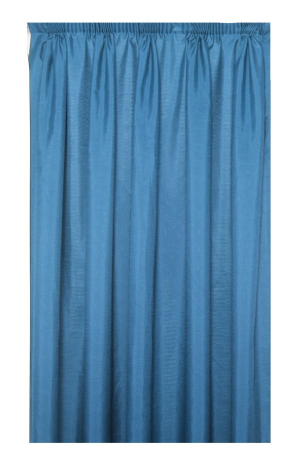 EXTRA WIDTH TAPED LINED CURTAIN 270x218