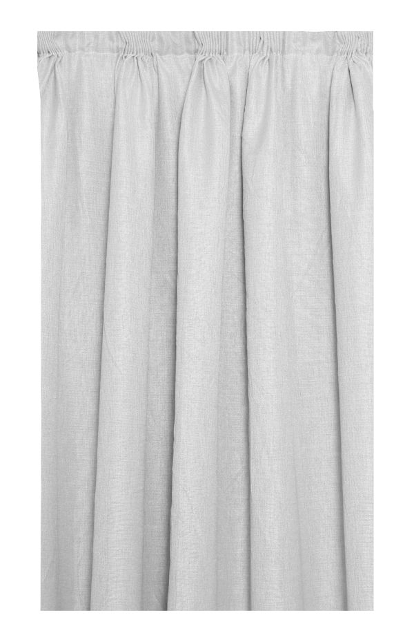 EXTRA LENGTH TAPED LINED CURTAIN 230x250