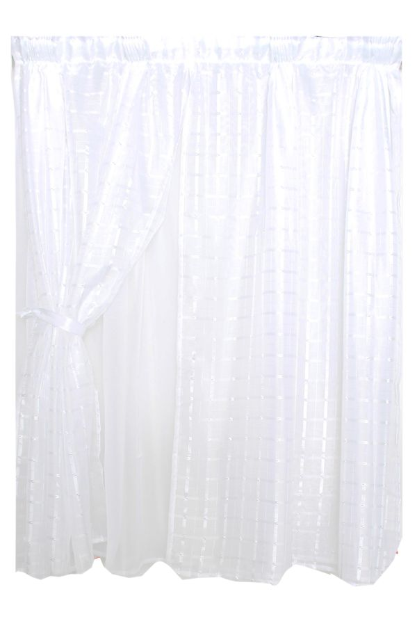 Voile Taped Cafe Curtain