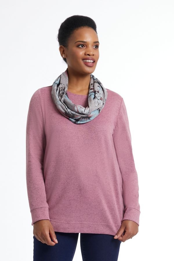 BOXY TOP WITH SNOOD