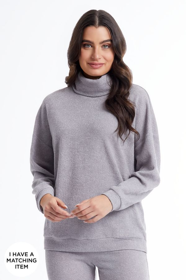 KNIT POLONECK TOP
