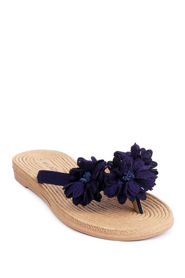 FLOWER TRIM THONG SANDAL