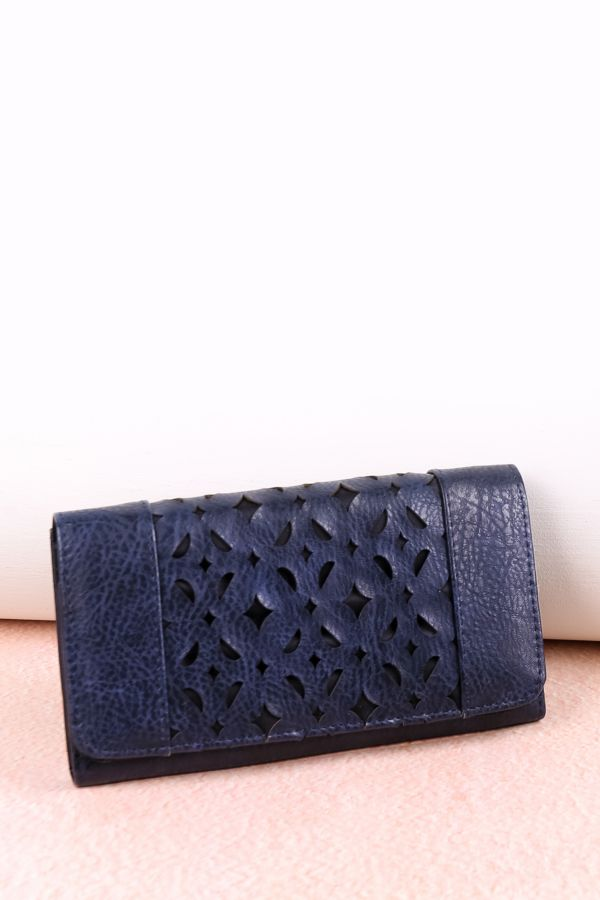 FLAP OVER CUT OUT PURSE