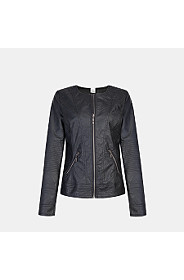 PLEATHER BOMBER JACKET