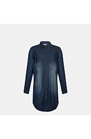 LACE INSET DENIM TUNIC
