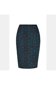 ABSTRACT PRINT BODYCON SKIRT