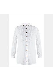 EMBROIDERED MANDARIN SHIRT