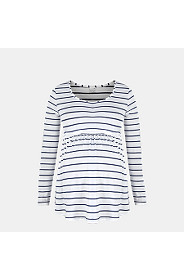 STRIPED EMPIRE TOP