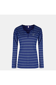 RIBBED STRIPE HENLEY T-SHIRT