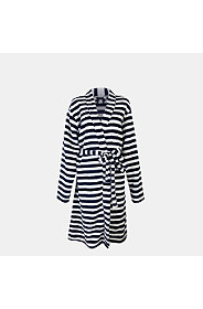 STRIPE CORAL FLEECE GOWN