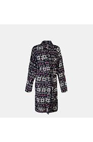 FAIRISLE FLEECE GOWN