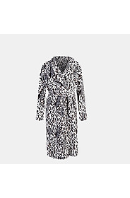 ANIMAL FLEECE GOWN