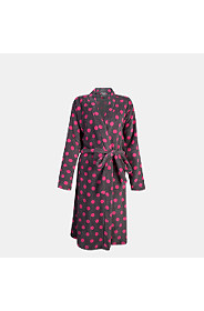 SPOTTED FLEECE GOWN