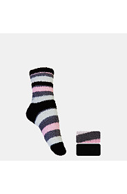 2 PACK FLUFFY STRIPE ANKLET
