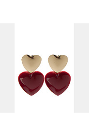 DENTED HEART STUDS