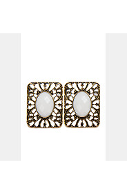SQUARE FILIGREE STUD