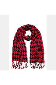 HOUNDSTOOTH FRILLY SCARF