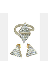 TRIANGLE RING AND STUD