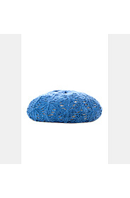 CROCHET KNIT SEQUIN BERET