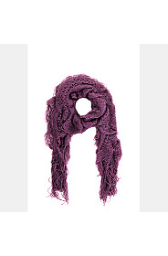 FRILLY KNIT SCARF