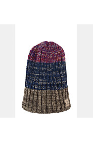STRIPE CABLE KNIT BEANIE