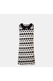 HEART PRINTED SHIFT DRESS