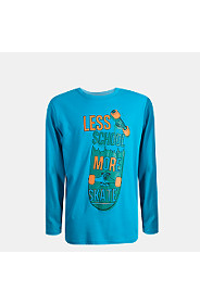 LONG SLEEVE SLOGAN T-SHIRT