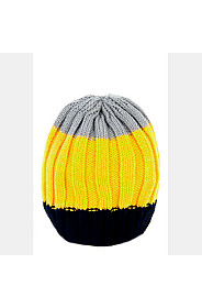 KNITTED STRIPED BEANIE