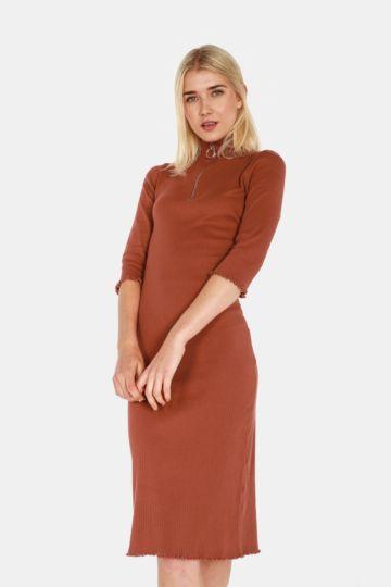 Quarter Zip  Bodycon Dress