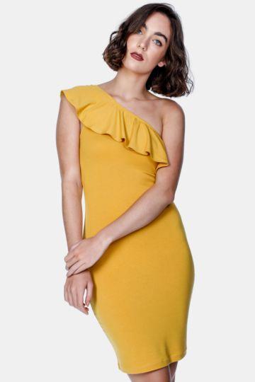One Shoulder Bodycon Dress