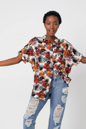 Floral Oversized Shirt